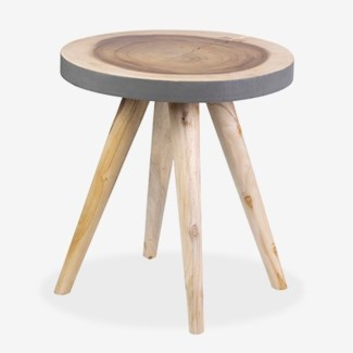 Milan Large Round Organic Side Table - GR