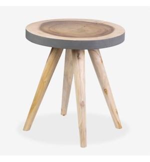 Milan Large Round Organic Side Table - GR