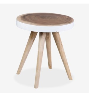 (LS) Milan Large Round Organic Side Table - WH -  Min purchase: 2 pcs