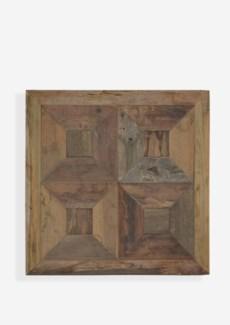 """(LS) 24"""" X 24""""  Atlas 3D Trapezoid Pattern Recycled Wood Mosaic (min 2 pcs) (24x1.5x24).."""