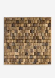(SP) Diamond Wood Mosaic Wall Decor..(18x1.5x18)