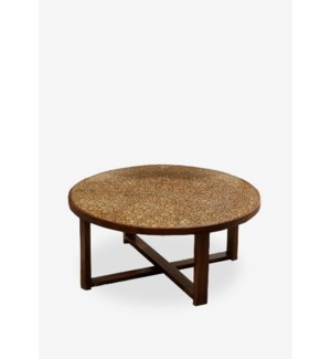 (LS) Habitat Round Cocktail Table w/ circle design