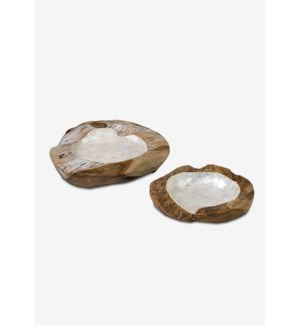 (LS) Natura Capiz Lined Bowl - Set of 2