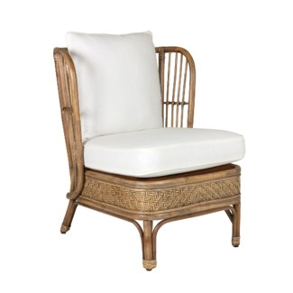 Cayman Rattan Armchair with White Seat/Back Cushion