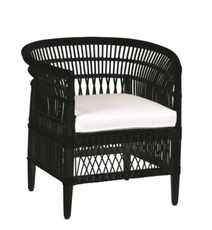 Maia Rattan Occasional Chair-Black