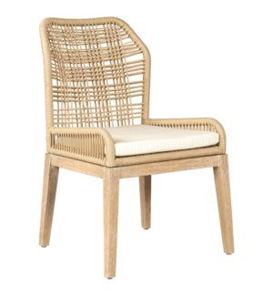 Vega Woven Side Chair, Cream 23x24.5x36 MOQ 2 (package: 2pcs/box) price is per piece