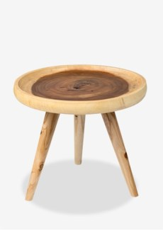 Liberte round tray side table with pin legs - natural (20x20x16.5)....