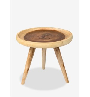 Liberte Round Tray Side Table with Pin Legs-Natural(20x20x20)