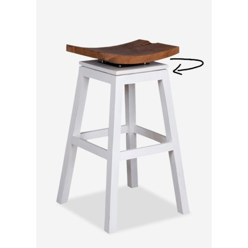 Organic Barstool Solid White Bar Amp Counter Stools