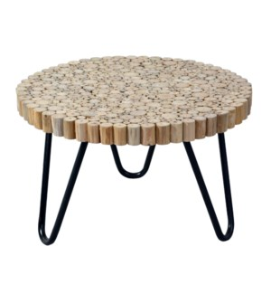 Prelude Freeform Table with Iron Base 22x22x19