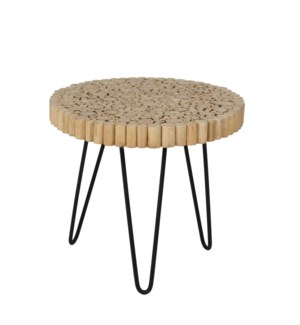 Prelude Freeform Side Table with Iron Base