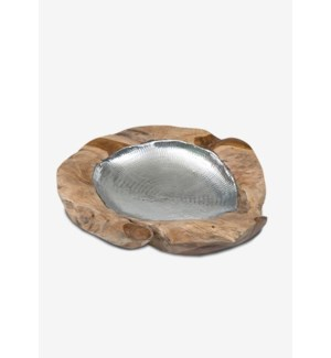 Natura Metal Lined Bowl 23.5X23.5X4