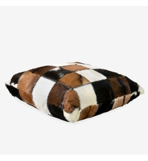 Safari Square Pillow in Patchwork Design..