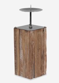 (LS) Square Wood Candle Holder-Large(2 pcs of Large Size) (5x5x14)