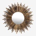 (LS) Twig Sunburst Mirror - Natural (43X2X43)