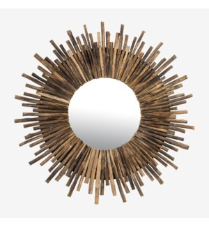 Twig Sunburst Mirror - Natural (43X2X43)