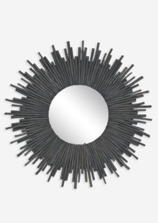 (SP) Twig Sunburst Mirror - Graywash