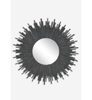 (LS) Twig Sunburst Mirror - Graywash