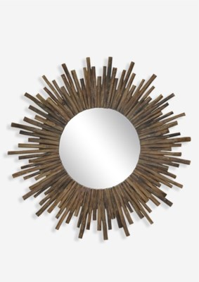"35"" Twig Sunburst Round Mirror in Natural..(35x2x35)"