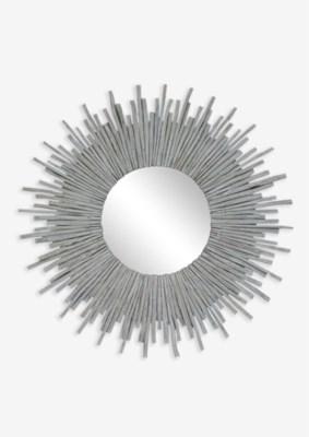 Twig Sunburst Mirror - Whitewash