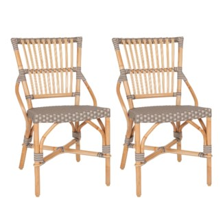 Ria Bistro Outdoor Side Chair (2 pcs/ box) - Grey/Natural