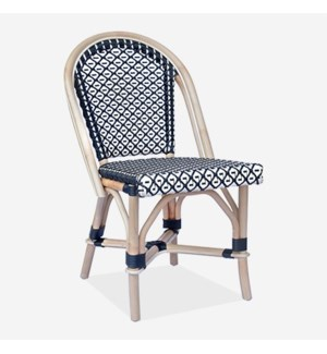 Camelot Outdoor Chair - Black/White - Minimum quantity 2 (17X24X35)