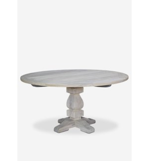 Sunset outdoor Round Dining Table - (47x47x30) - white (2 BOXES PER ITEM)