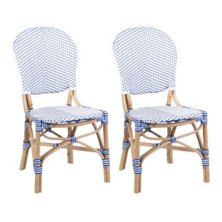 (SP) Isabel Outdoor Chair - White/Blue MOQ 2 (18.5x24x36)