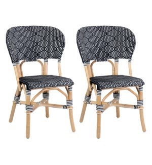 Flamenco Indoor-Outdoor Bistro Dining Chair, Black (2pcs per box, priced per piece)