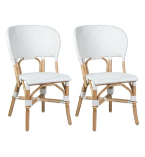 Flamenco Outdoor Bistro Dining Chair - MOQ 2 - White (package: 2pcs/box) price is per piece