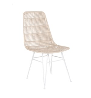 (LS) Outdoor Open Weave Chair-MOQ 2 (package: 2pcs/box) price is per piece (20X22X35)..