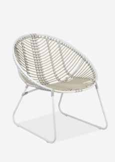St. John outdoor round chair - white/taupe..(28x28.75x30.25)..