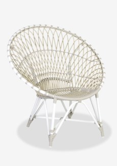 (LS) St Lucia outdoor round chair - white/taupe..(39.75x30.75x40.5)