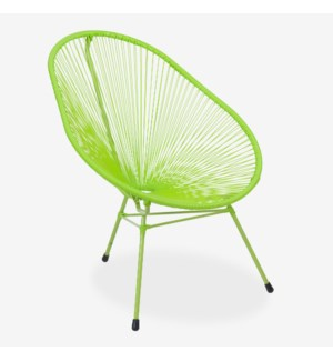 (LS) Scoop Outdoor Chair - UV Protected Resin (29X33X36) - Green (Cushion Not Included)