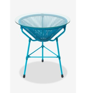 (LS) Scoop Side Table-Blue (19X19X23.5)..Material/Color:UV 3MM; Blue Color..CBM:0.14..Packing: Singl
