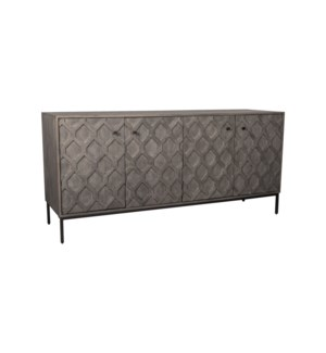 Lena 4 Door Sideboard, Greywash