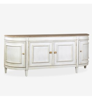 Claude Bow Front Sideboard, White