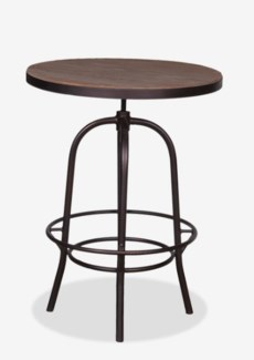 "(LS) Gabriel 31"" Bistro Table Wrapped with Iron Basemetal Base (31x37x45/31)"