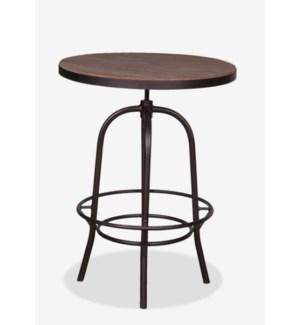 "(LS) Gabriel 31"" Bistro Table Wrapped with Iron Basemetal Base (31x37x45/31)"
