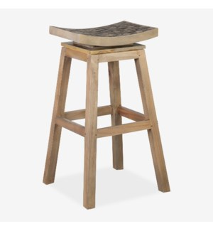 Cordova Swivel Barstool with -- Coffee Grain Grey (Assembly Required)