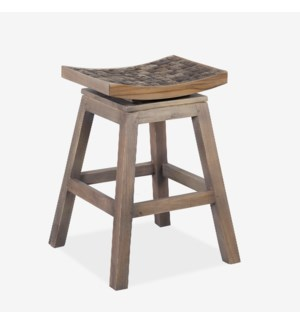 Cordova Swivel Counter Stool -- Coffee Grain Grey = Assembly Required