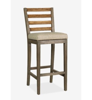 Davis Bar Stool - Grey Wash..(18x20.5x44)