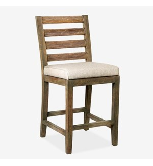 Davis Counter Stool - Grey Wash..(18x20.5x40)