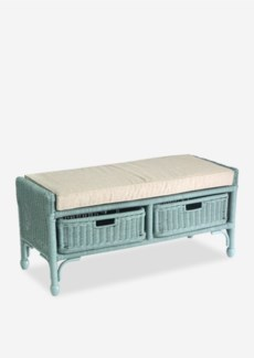 (LS) Seaview storage Bench with 2 drawers - Sky Blue