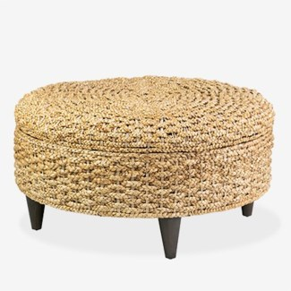 Easton round storage ottoman