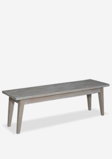 Highland Solid Wood Bench - White Wash (K/D) (55x16x18)