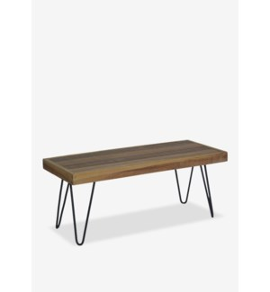 (LS) Sedona  Bench With Iron Leg (K/D) (39x16x18)