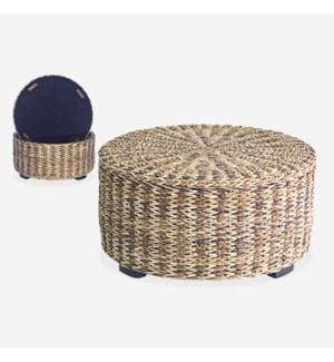 (LS) Palm Isle Round Coffee Table with Storage - Large
