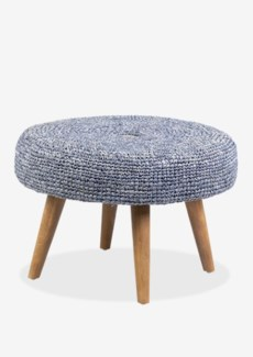 Gloria Round Ottoman with Raffia -- K/D