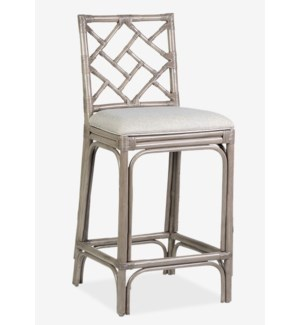 Hampton Chippendale Barstool - Grey Wash